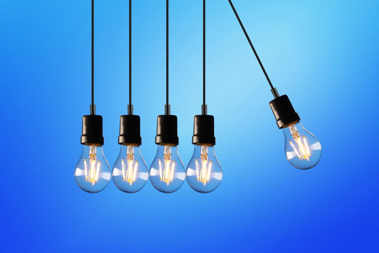 five led bulb lights