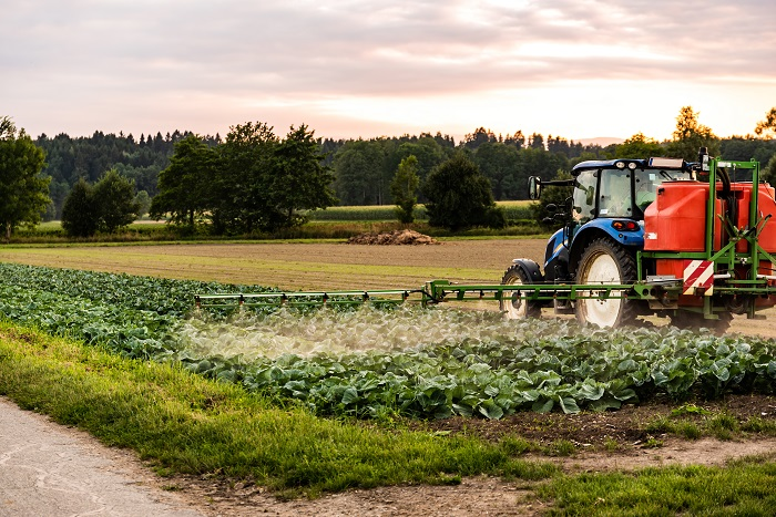 spraying of pesticide in the farm