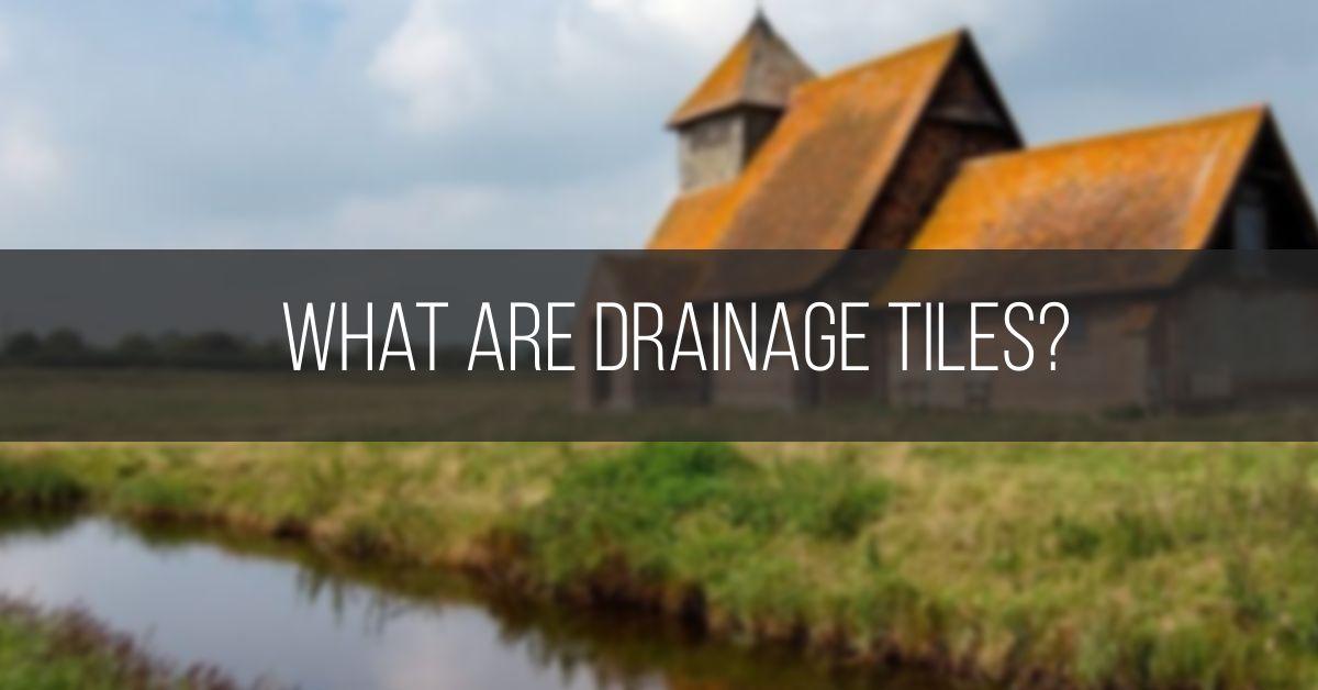 Drainage Tiles on organic Farming